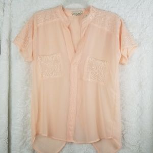 Gimmicks By Bke Sheer Lace sz Small